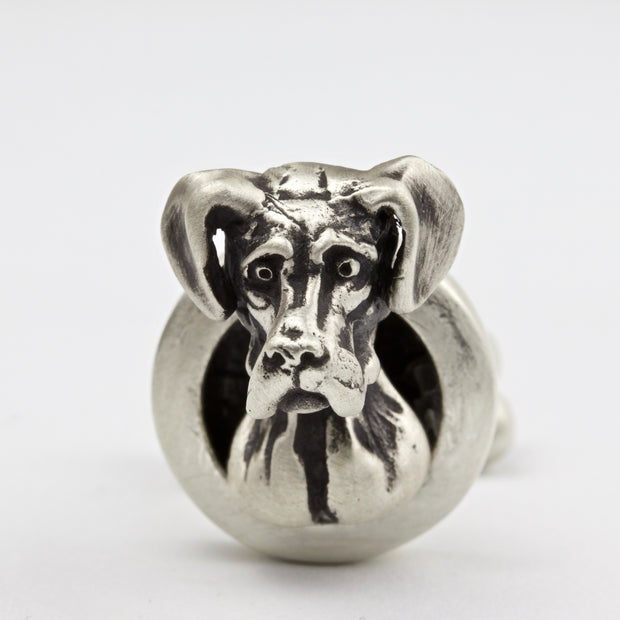 Great Dane Natural Ears pair of Cufflinks
