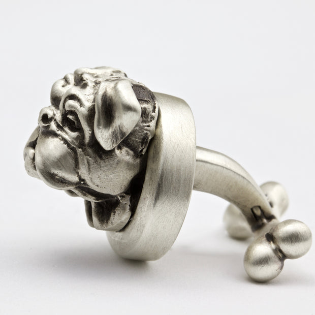English Bulldog Pair of Dog Cufflinks Jewelry
