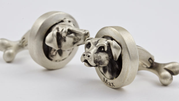 Labrador pair of Cufflinks