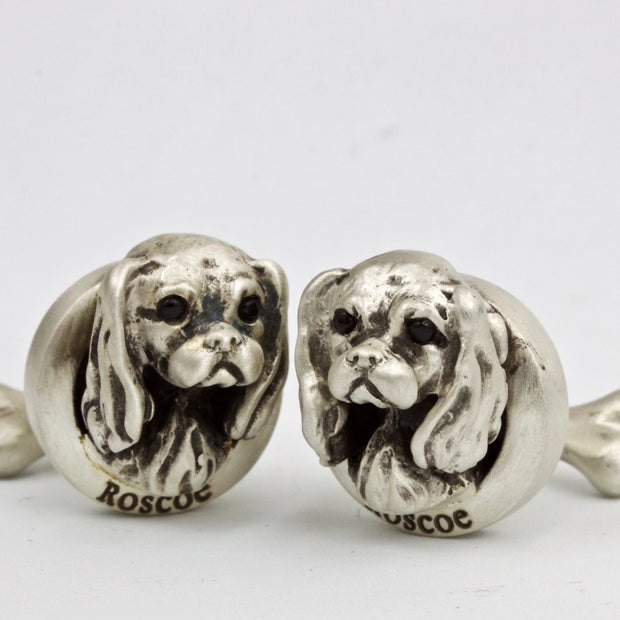 Cavalier King Charles pair of Cufflinks