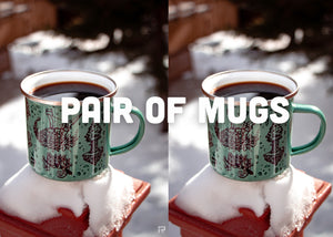 Pair of Enamel Mugs