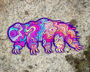 Tardigrade Holographic Sticker