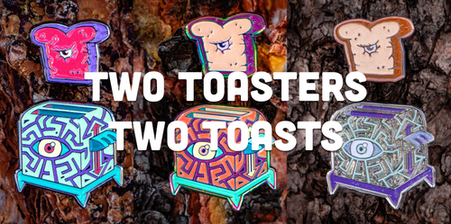 Two Mini Toasters and Two Toasts Limited Edition Enamel Pin
