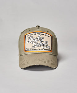 lucky seven green baseball cap