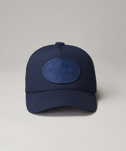 All Navy Script Trucker