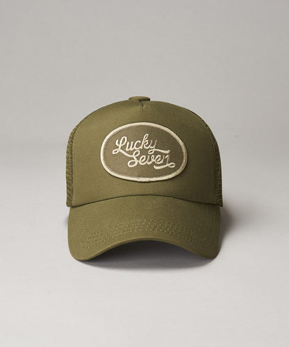 All Khaki Script Trucker
