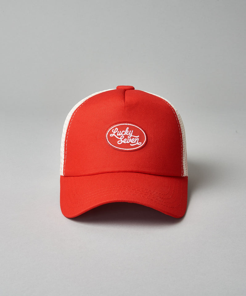 Kids Red Script Trucker