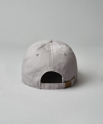 Grey Embroidered Dad Hat