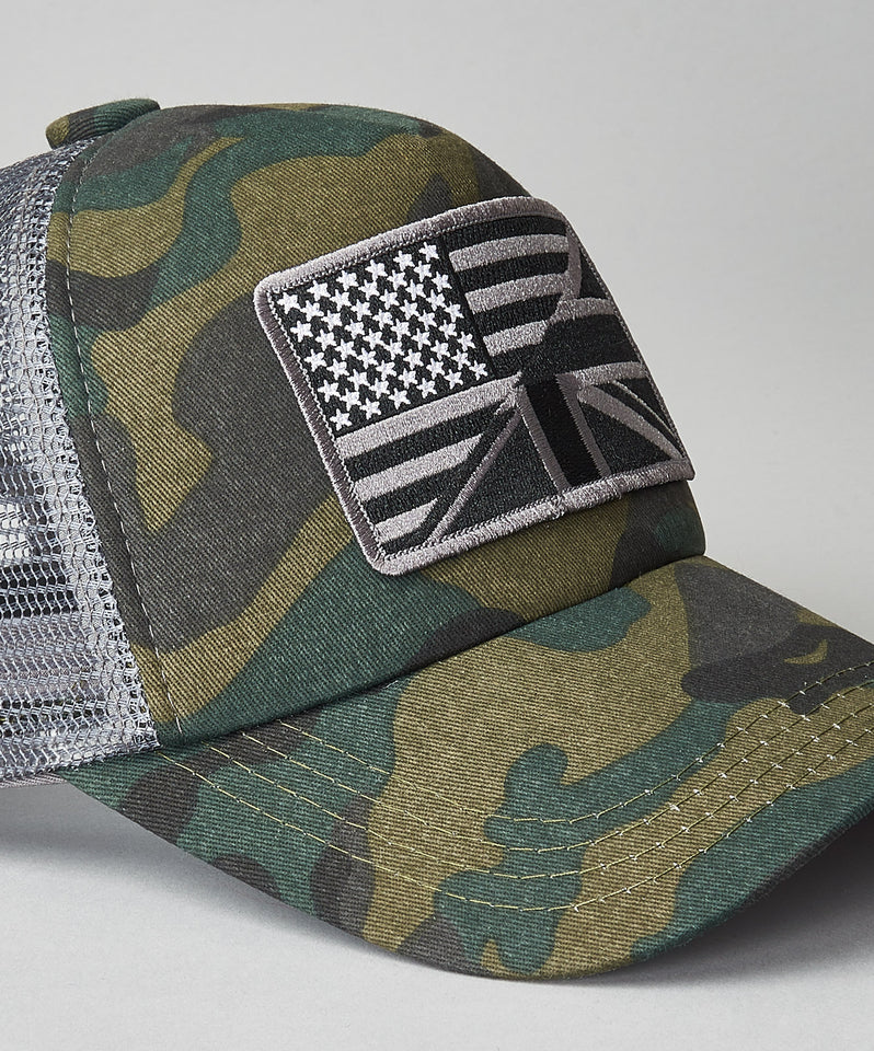 United Kingdom of America Camo Trucker