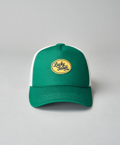 Kids Green Script Trucker