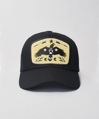 Rum Knuckles Raven Trucker- Black