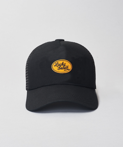 Kids Black Script Trucker- Black