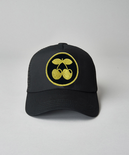Pacha Kids Gold Cherries Trucker- Black