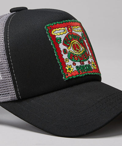 PACHA FLOWER POWER BLACK TRUCKER