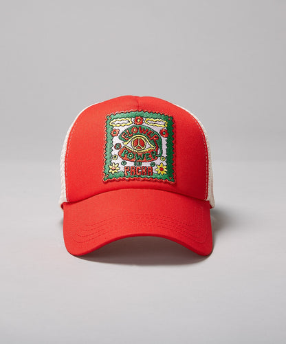 PACHA FLOWER POWER RED TRUCKER