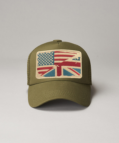 Khaki ReOrg Bronze United Kingdom Of America Trucker
