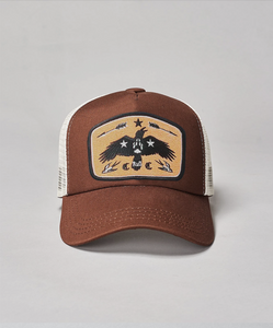 Kids Golden Raven Trucker- Brown