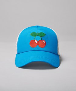 Pacha Kids Cherries Trucker- Bright Blue