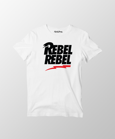 David Bowie Rebel Rebel T-Shirt- White