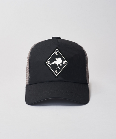 Lucky Seven x ReOrg Raven Trucker- Black/Grey