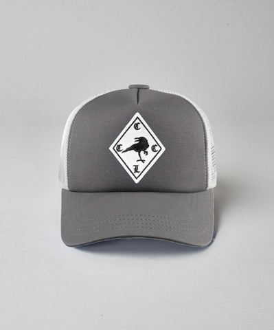 Kids White CCCL Raven Trucker- Black
