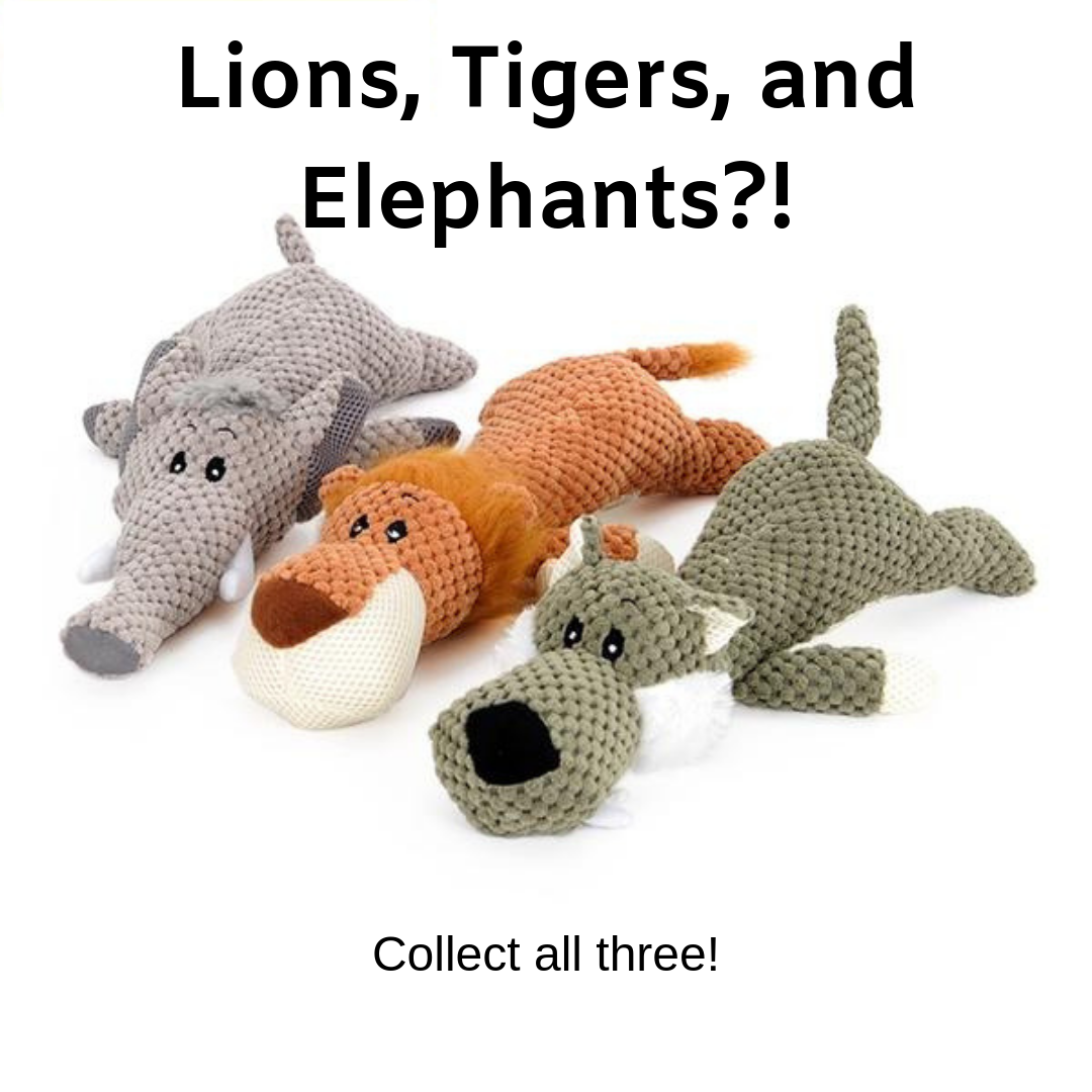 Pet Anxiety Stuffed Animal Chew Toys - The Creature Getup