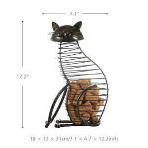 Metal Cat Figure Cork Container - The Creature Getup