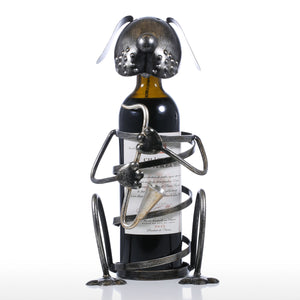 Metal Dog Band Wine Holder - The Creature Getup