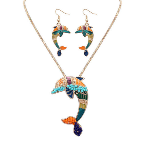 Dolphin Lovers Hippie Pendant Set - The Creature Getup