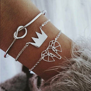 Hollow Elephant Bracelet 3 Pc Set - The Creature Getup
