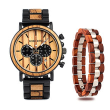 TCG Wood & Steel Chronograph Wooden Watch Bracelet Combo - The Creature Getup