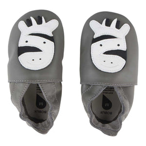 Soft Sole Grey Zebra