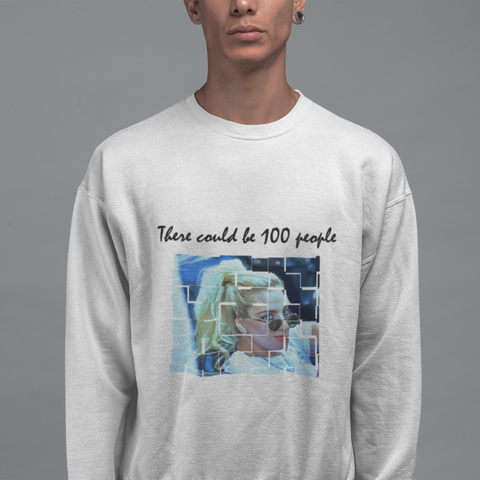 100 people Crew Neck Sweatshirt