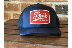 Texas Fly Co Navy Patch-Trucker Hats-Fly Wild Outfitters