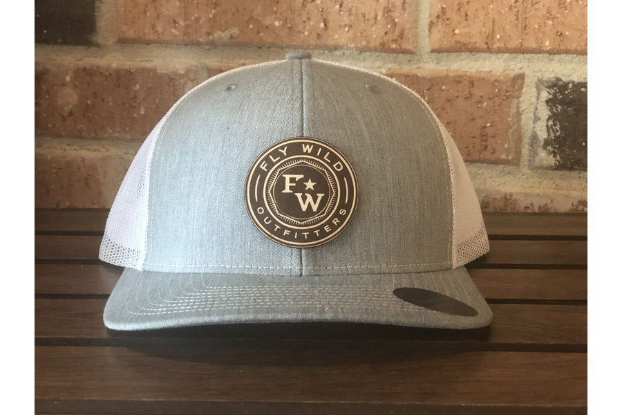 Fly Wild Leather Patch-Trucker Hats-Fly Wild Outfitters
