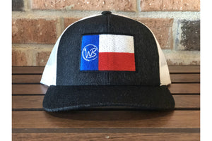 Whiskey Bent Texas Flag-Trucker Hats-Fly Wild Outfitters