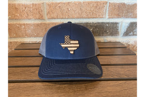 Texas American Flag-Trucker Hats-Fly Wild Outfitters