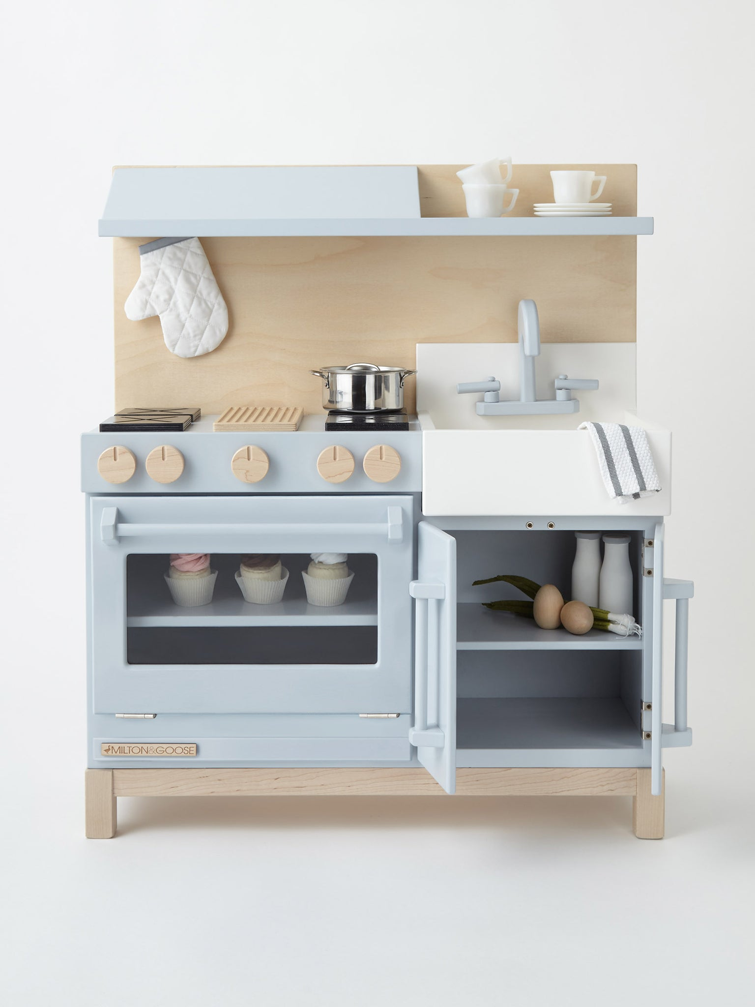 Gray Classic Wooden Play Kitchen for Children | Spencer and York