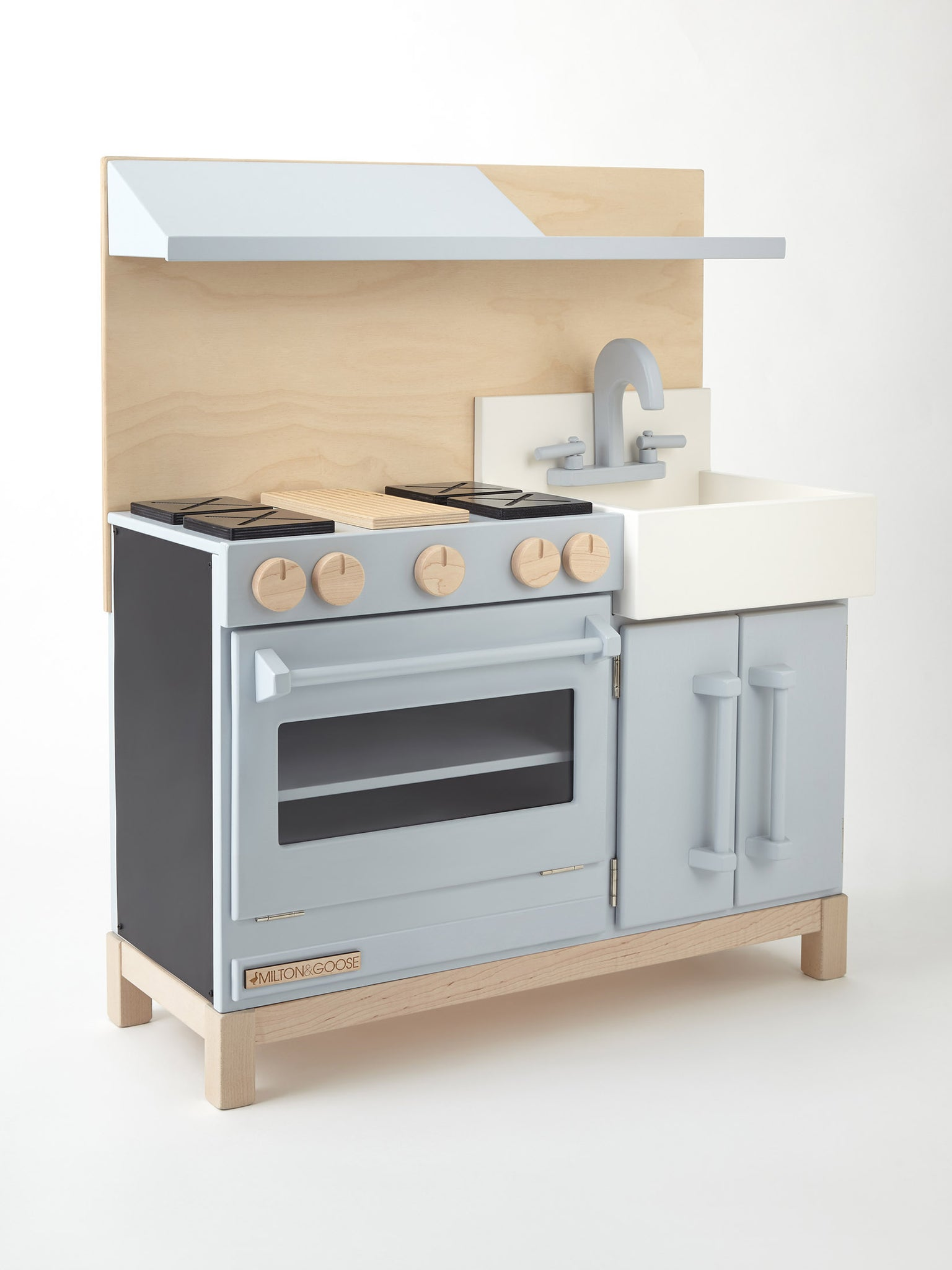 ... Spencer And York White Classic Wooden Play Kitchen For Children By  Milton U0026 Goose ...