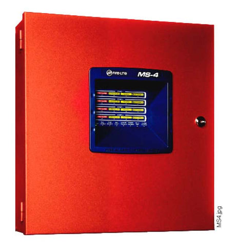 FireLite MS-4 Four Zone Fire Alarm Control Panel