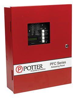 Potter PFC-4410RC 4 Zone Releasing Control Panel - Red