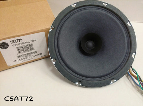 Atlas Sound C5AT72 8 Dual Cone Loudspeaker with 25V/70.7V-4W Transformer""