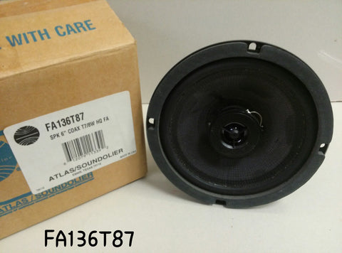 Atlas Sound FA136T87 6 Coaxial Loudspeaker with 70.7V-8W Transformer""