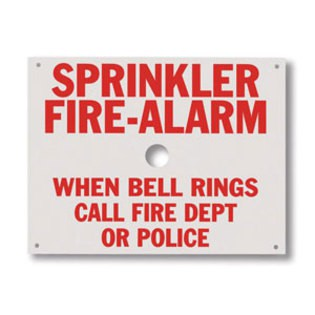 Brooks A165 Sprinkler Identification Sign