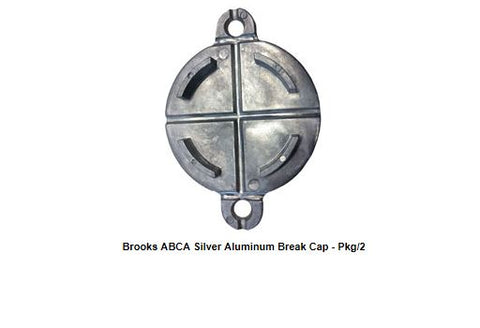 "Brooks Aluminum Break Caps ABCA Silver 2 1/2"";Brooks Aluminum Break Caps ABCA"""