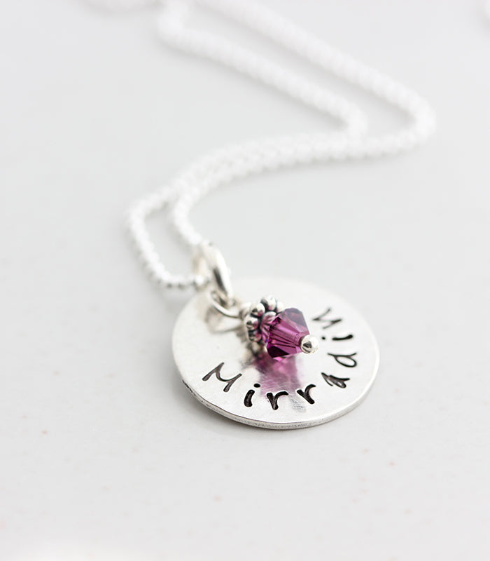 Dainty personalized Mommy name necklace Christina Guenther Jewelry