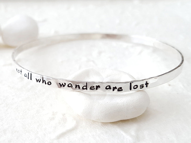 Yours Alone personalized message bangle custom quote names Christina Guenther Jewelry