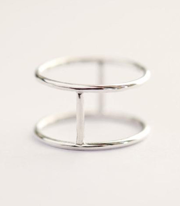 Pura Vida Pure Life Hand Forged Sterling Silver Artisan Cage Ring Christina Guenther Jewelry