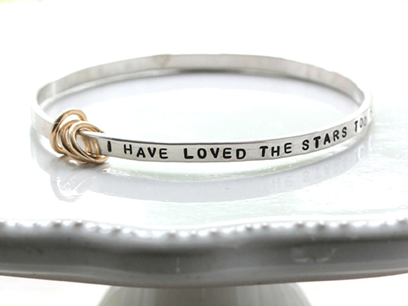 Hand Forged Hand Stamped Personalized Inspiration Bangle Bracelet Christina Guenther Jewelry