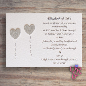 OLIVIA Day or Evening Invites - Glitter